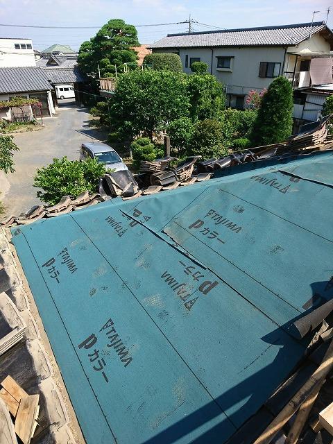屋根放水シート