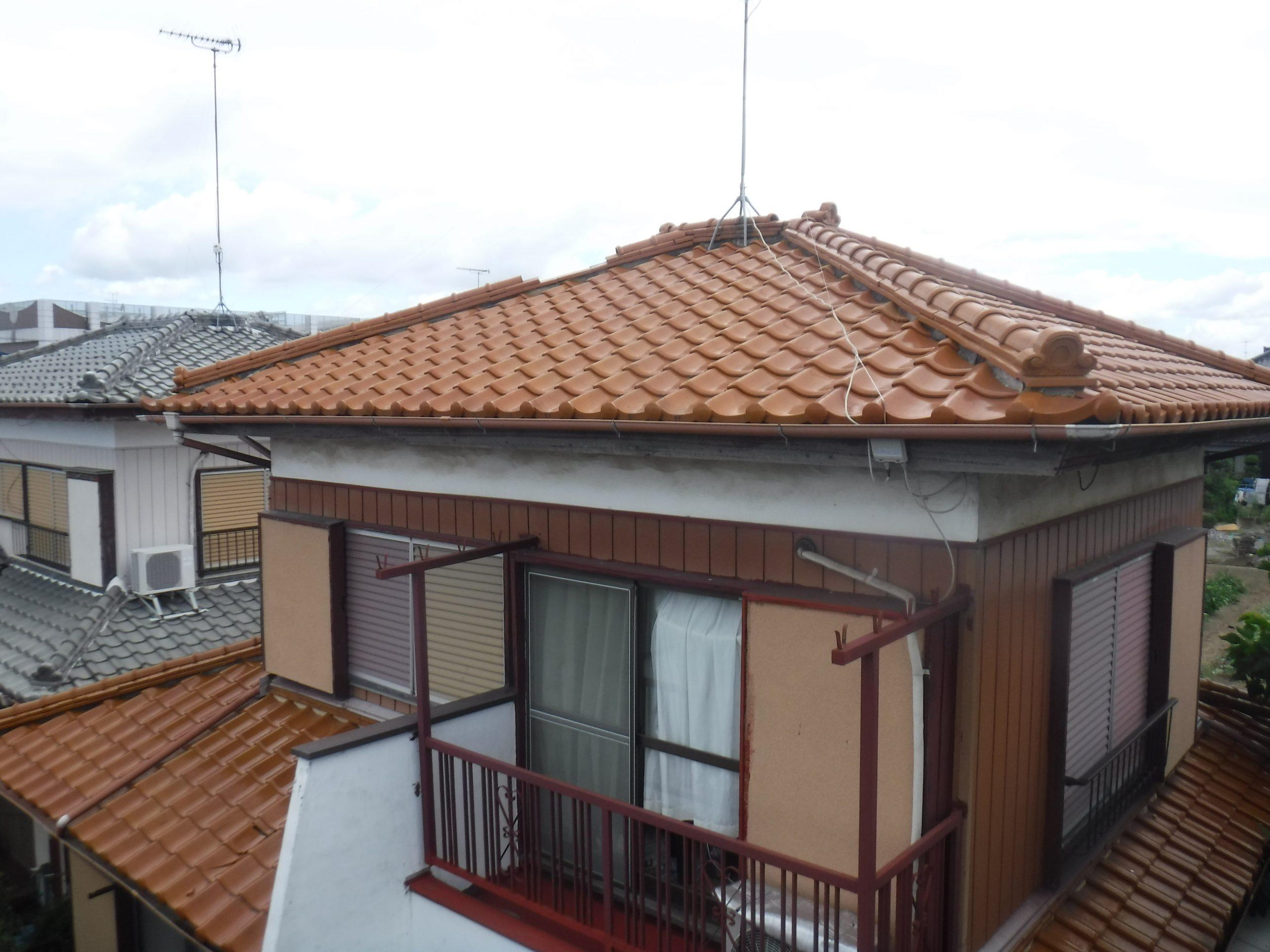 越谷市で台風により壊れた屋根の現場調査に行って来ました