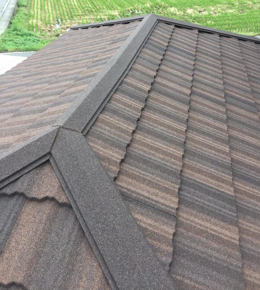 車庫屋根仕上がり