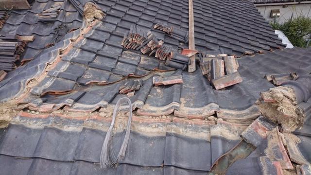 草加市で地震でずれた棟瓦積み直し、銅雨樋交換で火災保険申請をしました