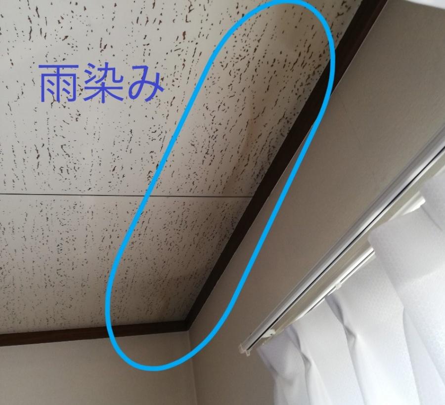 天井に雨染み